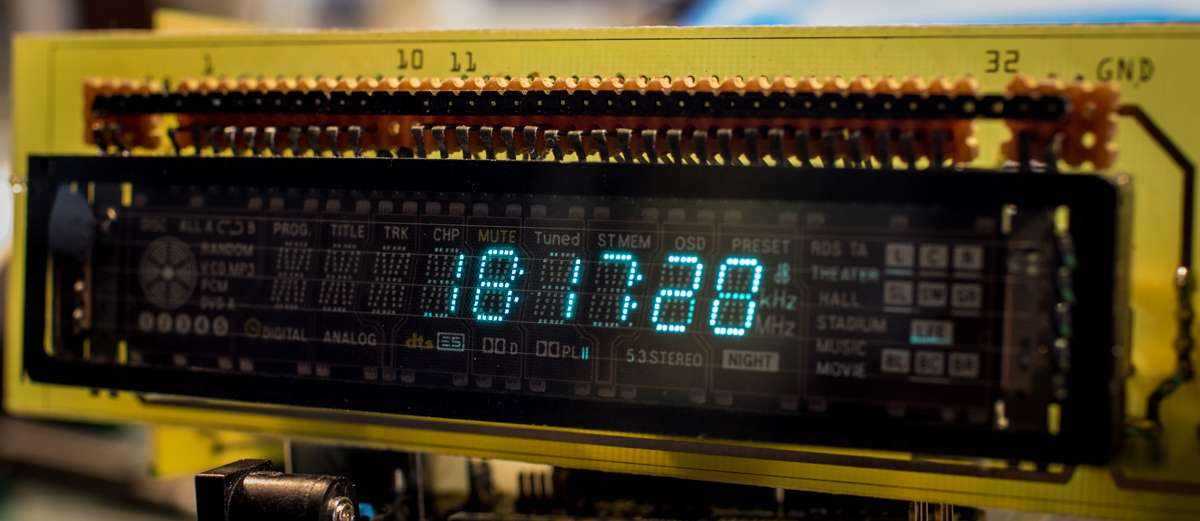 Hacking a Vacuum Fluorescent Display | g7smy co uk
