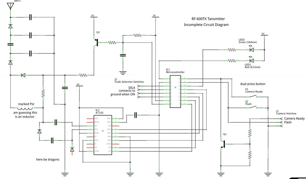 RF600TX - Partial Schematic