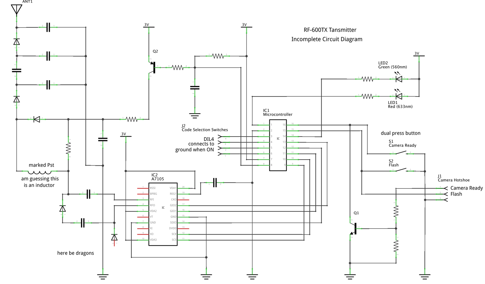 Karl Camera Flash Circuit Diagram Rf600tx Partial Schematic