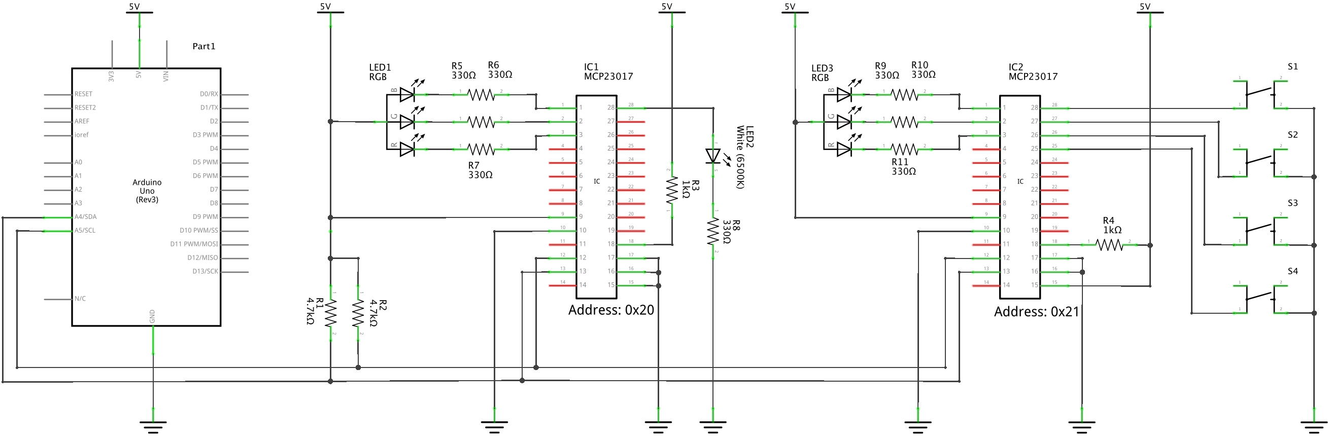 Electronics Page 2 Sziklai Pair With The Circuit Shown You Construct A Pnp Connecting Two Mcp23017 Port Expanders Click To Enlarge