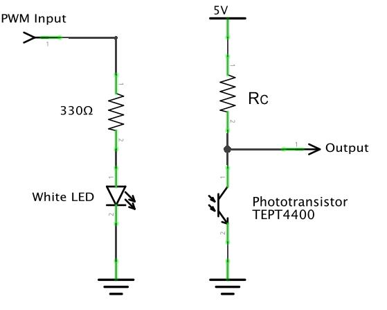 using phototransistors